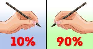 10% de gauchers